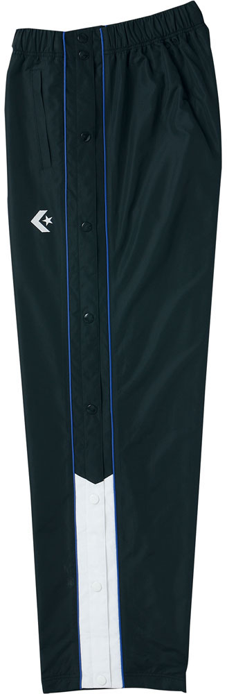 割り引き 送料無料 ついに再販開始 CONVERSE コンバース ウォームアップパンツ サイドフルオープン仕様 M ブラック×ホワイト CB162501P カラー サイズ