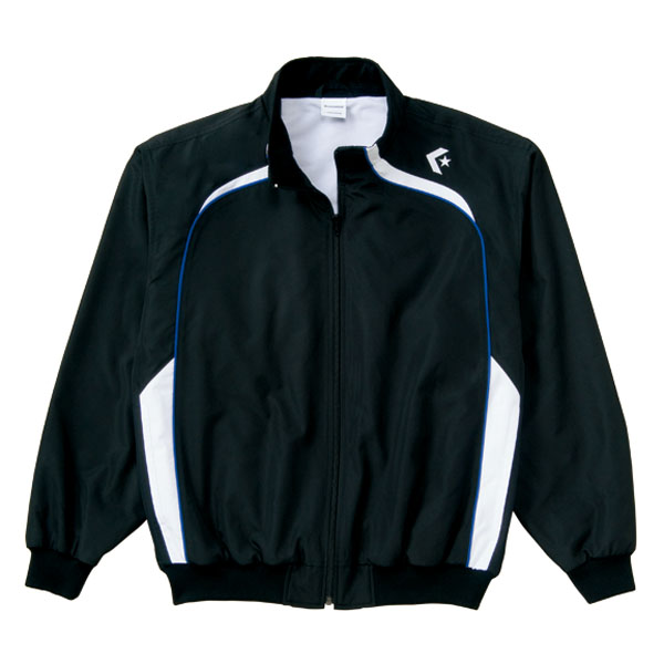 <title>送料無料 CONVERSE コンバース ウォームアップジャケット 裾フライス仕様 CB162502S カラー ブラック×ホワイト サイズ 期間限定お試し価格 S</title>