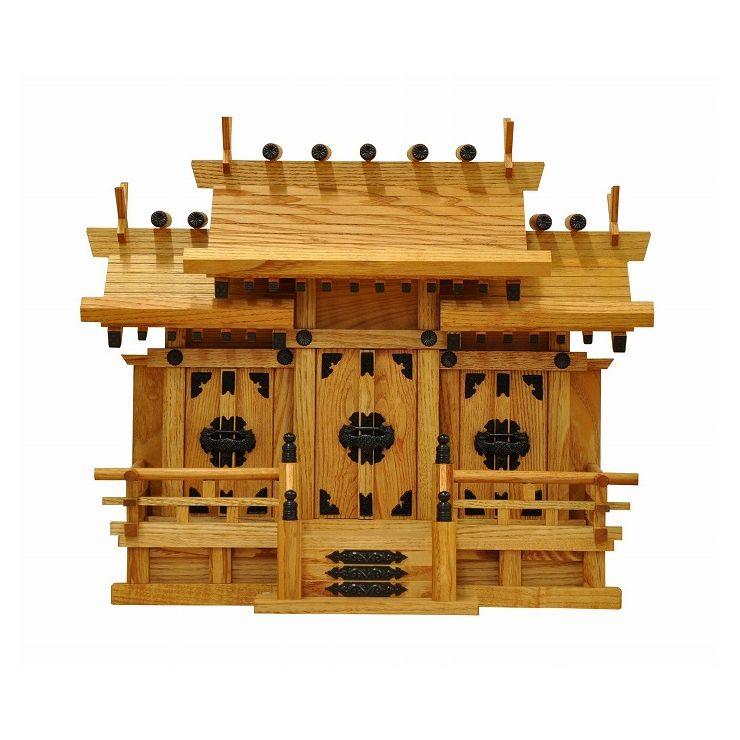 日本製 ケヤキ 小 国産 お札 神具 お参り 天然木 おふだ かみだな 神札(代引不可)【送料無料】