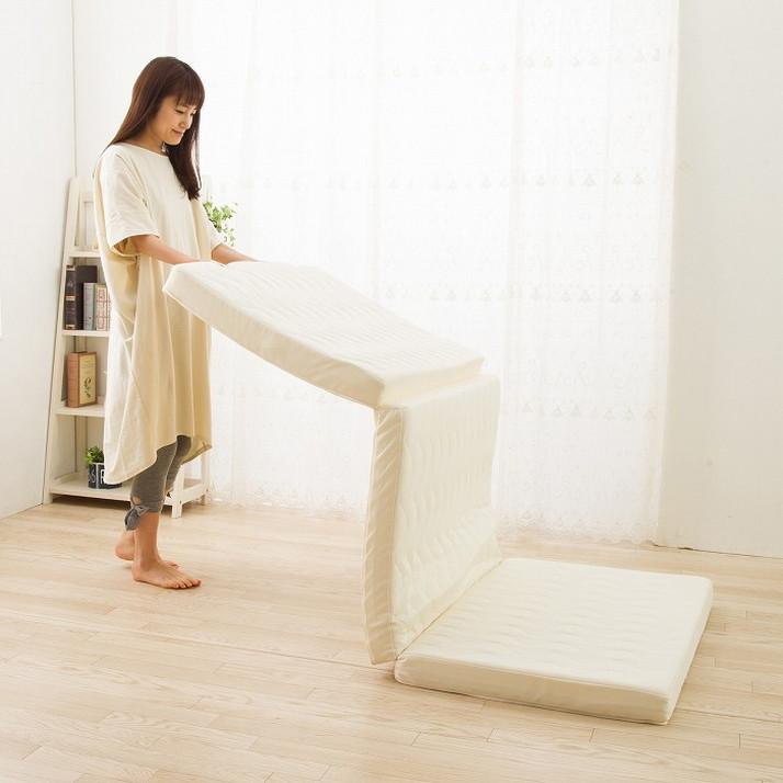 日本製 寝返り 超高反発 三つ折りマットレス シングル 高反発 マットレス 国産 3つ折り 抗菌(代引不可)【送料無料】
