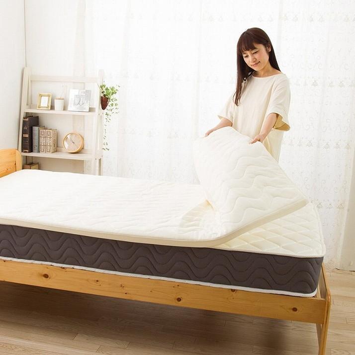 日本製 むれにくい 低反発 パッド 敷き布団 セミダブル 敷きパッド 敷き布団 抗菌 国産 寝具 パット(代引不可)【送料無料】