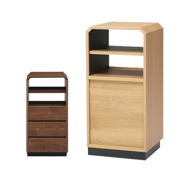 日本製 おしゃれ サイドテーブル サイドボード 幅40cm 高さ85cm 【国産 大川家具 完成品】 木製 収納 ベッドサイドテーブル(代引不可)【送料無料】