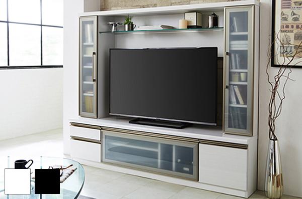 日本製 おしゃれ テレビ台 テレビボード 壁面 幅180cm 高さ150cm 【国産 大川家具 組立設置無料】木製 収納(代引不可)【送料無料】