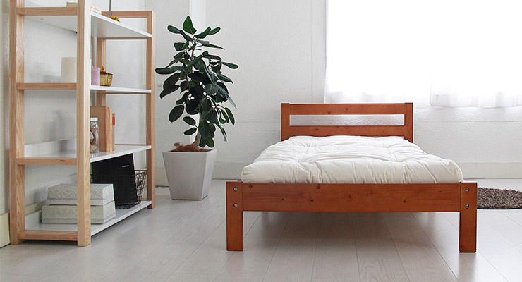 ベッド シングル 長さ 調整 調節 マットレス付き POSH ポッシュ 天然木伸長式ベッド 専用(代引不可)【送料無料】【int_d11】