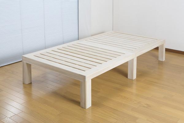 総桐ステージすのこベッド SSサイズ セミシングル ベッド シンプル すのこ 天然木 ベッドフレーム(代引不可)【送料無料】【S1】