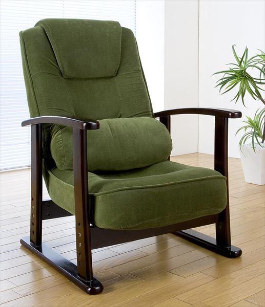 折り畳み式木肘高座椅子 SP-809(代引不可)【送料無料】