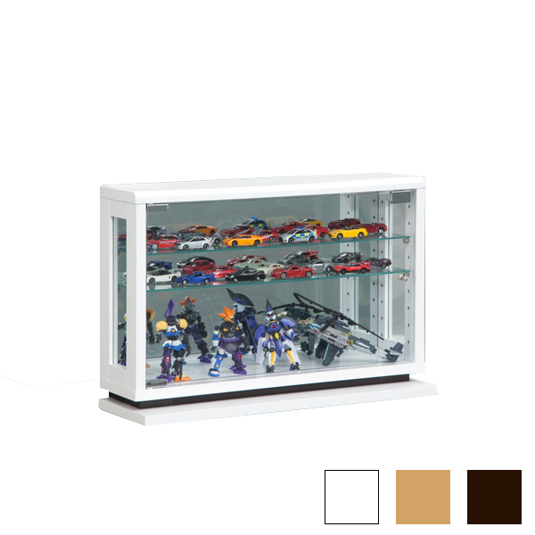 コレクションラック 幅60cm×高さ40cm コレクションケース コレクションボード 飾り棚 ガラス棚 ショーケース  ナチュラル(代引不可)【送料無料】