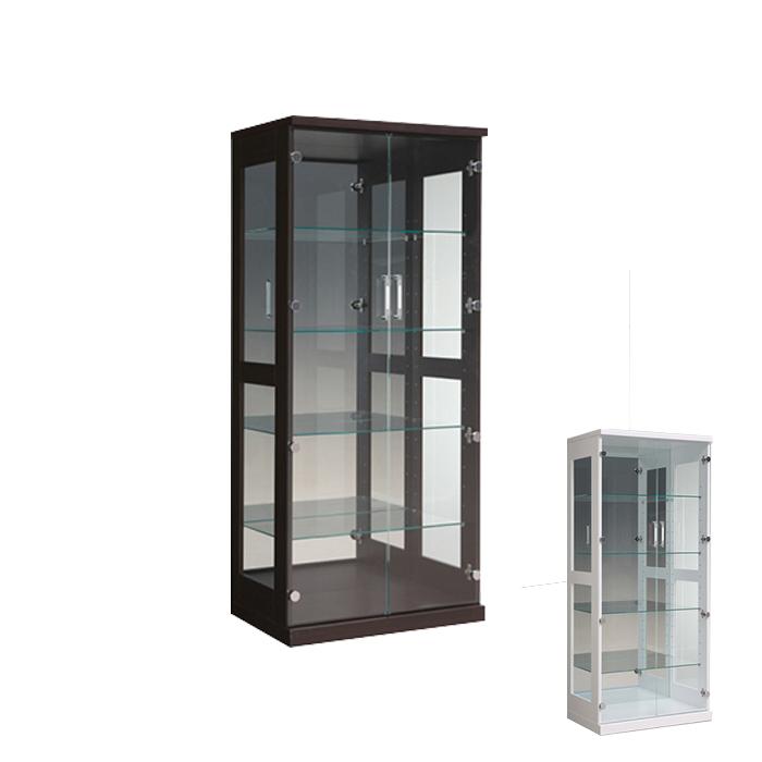 コレクションラック H 幅70cm×高さ160cm 【完成品】 コレクションケース コレクションボード 飾り棚 ガラス棚 ショーケース (代引不可)【送料無料】