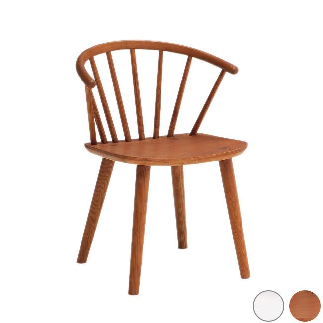 ダイニングチェア 単品 椅子 チェア ウッドチェア イス おしゃれ 北欧 ミッドセンチュリー カントリー ブラウン ホワイト(代引不可)【送料無料】