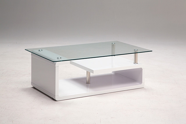 ガラステーブル リビングテーブル センターテーブル ローテーブル 幅110 奥行65 高さ39 強化ガラス 天板8mm 組立 おしゃれ【送料無料】