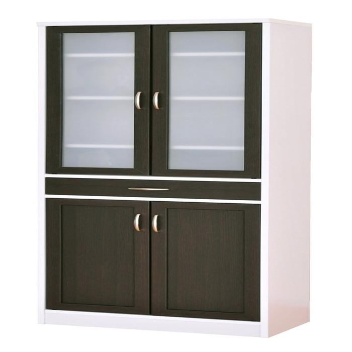 食器棚 幅58cm高さ182cm キッチン収納 食器 引出し 引き出し シンプル 一人暮らし(代引不可)【送料無料】