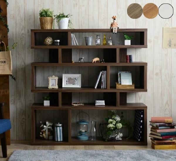 ラック シェルフ ディスプレイラック 木製シェルフ 木製ラック ウッドラック マガジンラック オープンラック 本棚(代引不可)【送料無料】