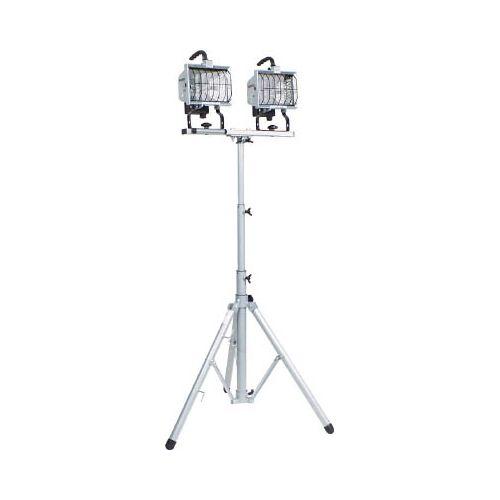 日動 ハロゲン投光器 ハロスター500 100V 500Wハロゲン 二灯三脚式 HS500LW(代引き不可)