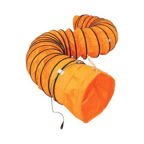 スイデン 送風機用ダクト 防爆用アース端子付 320mm 5m SJFD320DC(代引き不可)【送料無料】