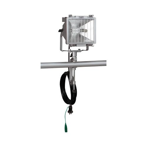 ハタヤ 防雨型ハロゲンライト 500W 100V接地付電線5m バイス付 PH505KN(代引き不可)