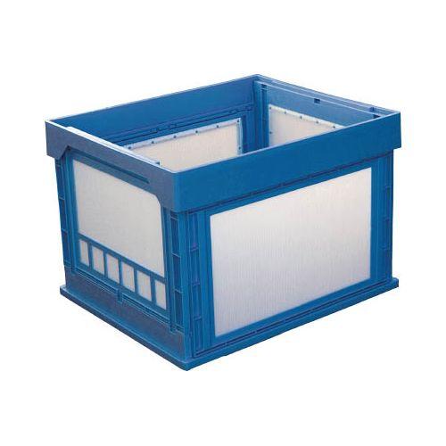 KUNIMORI プラスチック折畳みコンテナ パタコン N-107 ブルー 50190N107B(代引き不可)