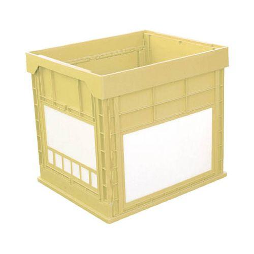 KUNIMORI プラスチック折畳みコンテナ パタコン N-134 イエロー 50681N134YE(代引き不可)【送料無料】