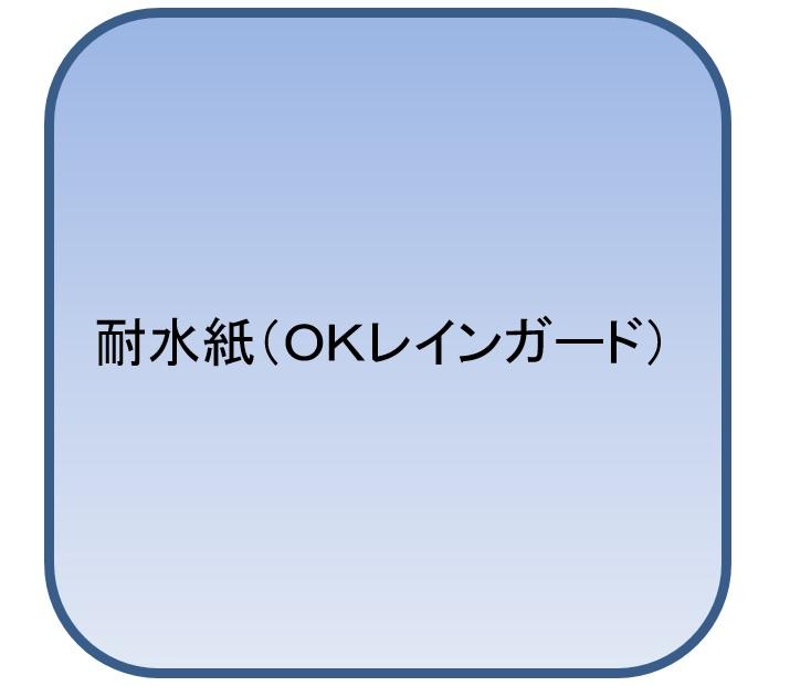 OKレインガード A3 T 127.9g(110kg 1000枚パック 1枚あたり23.1円)(代引不可)【送料無料】