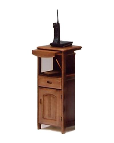 電話台 幅32cm 木製 無垢材 収納 完成品 ルーター収納 北欧 小物 おしゃれ(代引不可)【送料無料】