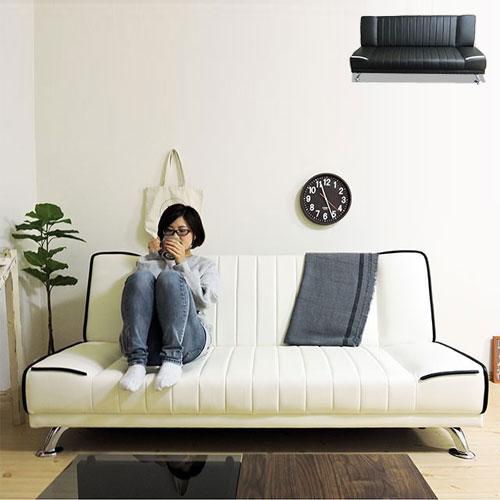 ソファベッド 3人掛け シングル ソファ ベッド リクライニング オシャレ(代引不可)【送料無料】
