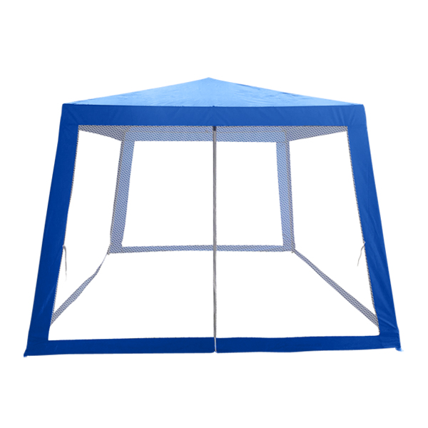 組み立て式 メッシュタープテント3×3M グリーン ブルー アウトドア 組立式 蚊対策 蚊よけ 日よけ レジャー キャンプ(代引不可)