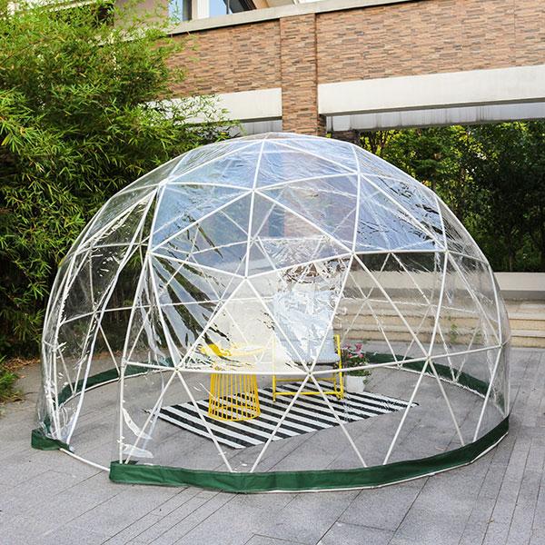 ドームハウス PVCカバー ドームテント テントハウス イグルー サンルーム ドーム型 キャンプ アウトドア(代引不可)【送料無料】