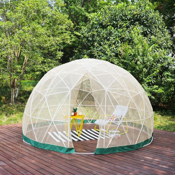 ドームハウス メッシュカバー ドームテント テントハウス イグルー サンルーム ドーム型 キャンプ アウトドア(代引不可)【送料無料】