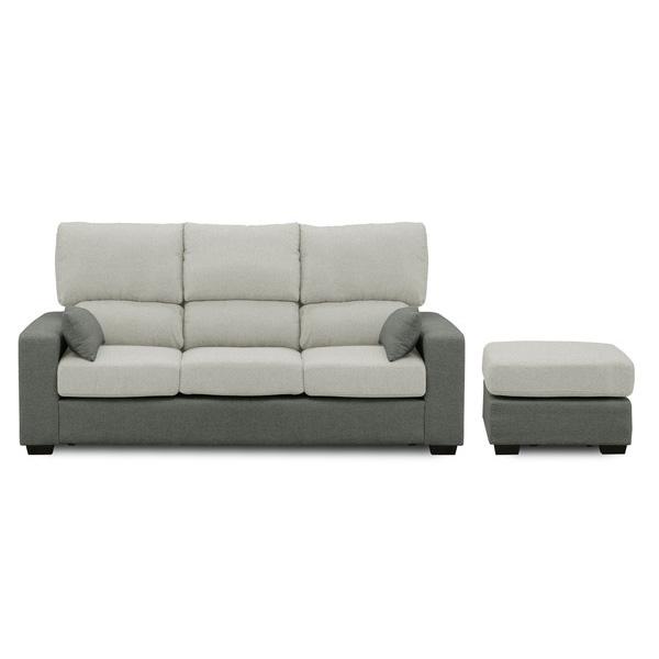 カウチソファ sofa 3人掛け ファブリック 開梱設置無料 ほぼ完成品 クッション2個付き おしゃれ 幅198cm ファブリック(代引不可)【送料無料】