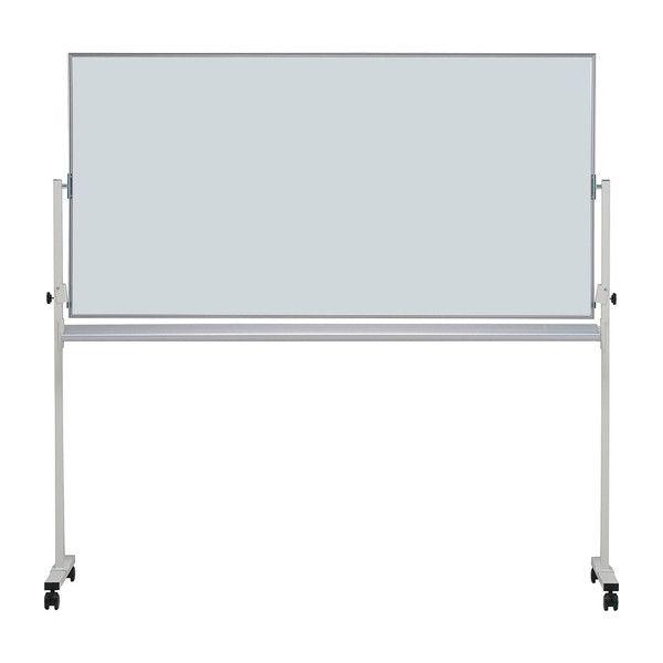 ホワイトボード 無地片面36 脚付き 板面サイズ:180×90cm 横型 ホーロー イレイサー付き 白板 whiteboard キャスター付き 片面(代引不可)【送料無料】