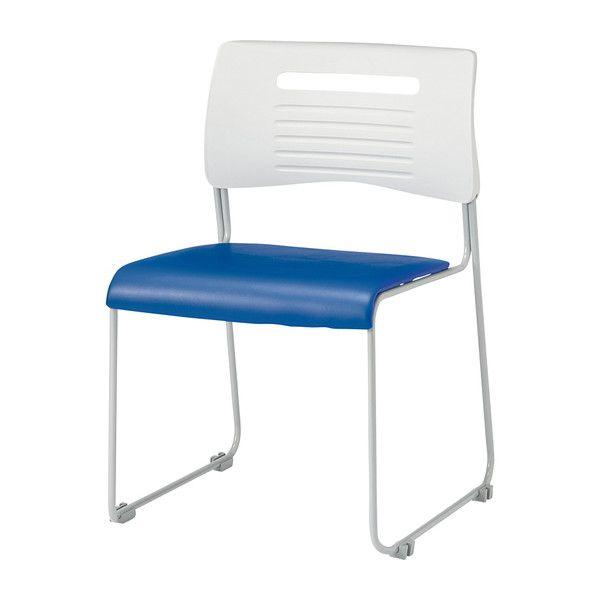 ミーティングチェア スタッキングチェア 肘無し PVCタイプ 会議用 チェア 椅子 会議用チェア(代引不可)【送料無料】