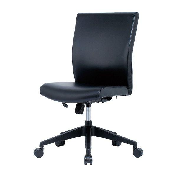 オフィスチェア 肘無し PVCレザー HRA-17BK オフィス チェア チェアー オフィス用(代引不可)【送料無料】