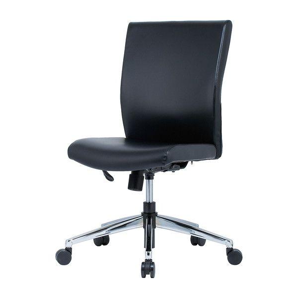 オフィスチェア 肘無し PVCレザー HRA-17MBK オフィス チェア チェアー オフィス用(代引不可)【送料無料】