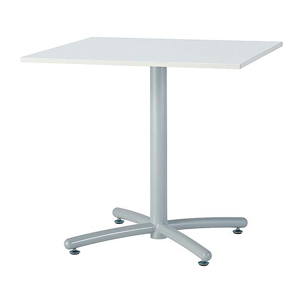 ミーティングテーブル 120×75cm 正方形 シルバー脚 会議用テーブル 会議テーブル 会議机 会議デスク テーブル 打ち合わせ 商談(代引不可)【送料無料】