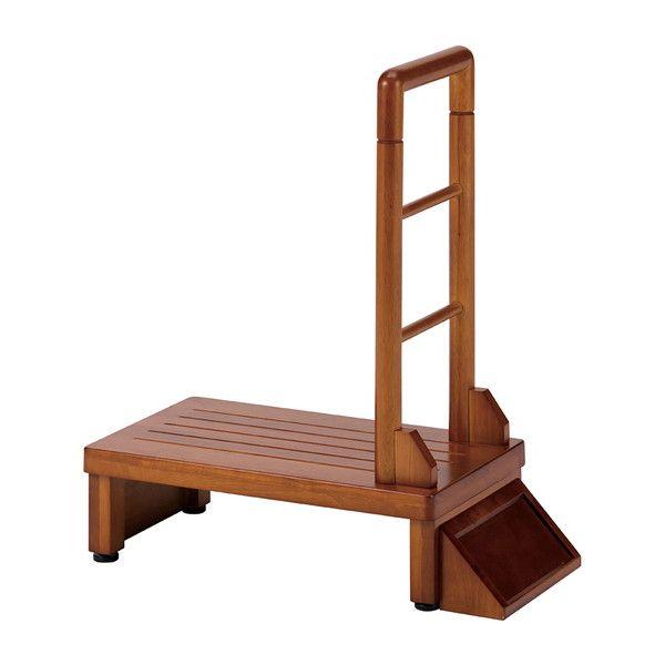 玄関台 手すり付き玄関台 幅60cm 手すり付き 台 玄関 踏み台(代引不可)【送料無料】