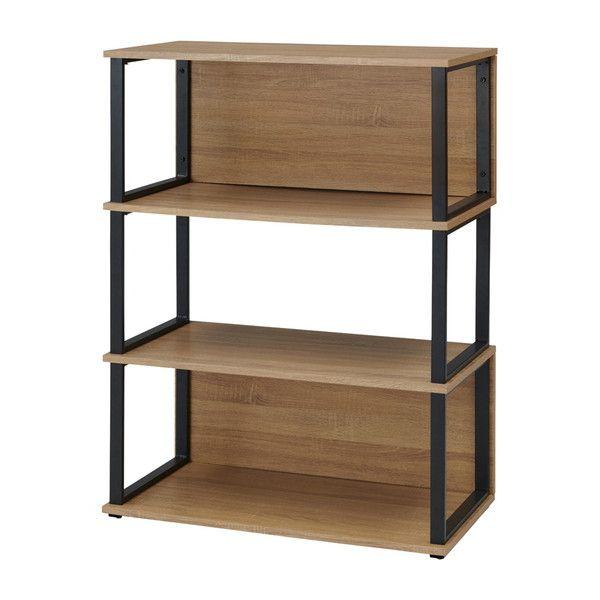 古木柄 木製シェルフ 3段 RGシェルフ シェルフ 棚 オープンラック ラック 本棚(代引不可)【送料無料】