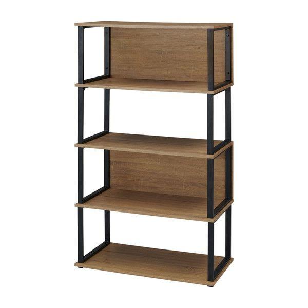 古木柄 木製シェルフ 4段 RGシェルフ シェルフ 棚 オープンラック ラック 本棚(代引不可)【送料無料】