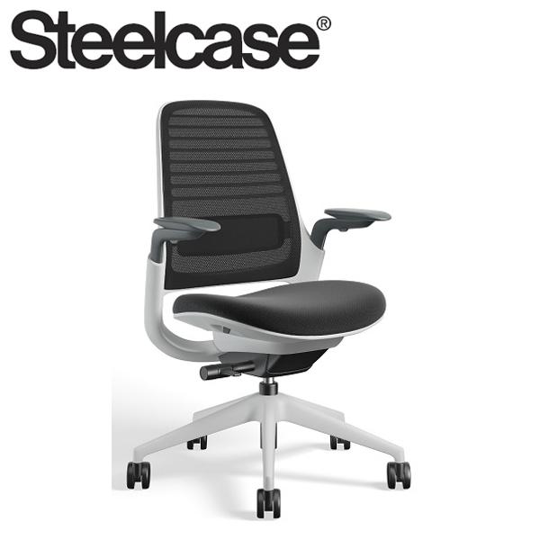 【Steelcase】 スチールケース シリーズ1チェア AJアーム付 シーガルフレーム 受注生産品 デスクチェア 高級(代引不可)【送料無料】
