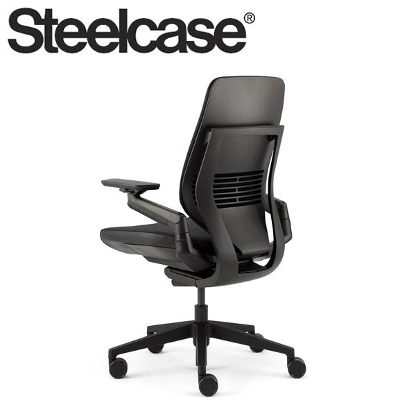 【Steelcase】 スチールケース ジェスチャーチェア シェルバック ブラック/ブラック リコリス 5S26 デスクチェア(代引不可)【送料無料】