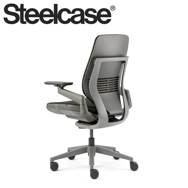 【Steelcase】 スチールケース ジェスチャーチェア シェルバック ダーク/ダーク リコリス 5S26 デスクチェア(代引不可)【送料無料】
