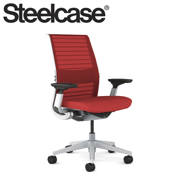 【Steelcase】 スチールケース シンクチェア AJアーム付 シーガルフレーム 受注生産品 3Dニット 可動ランバー付き デスクチェア(代引不可)【送料無料】