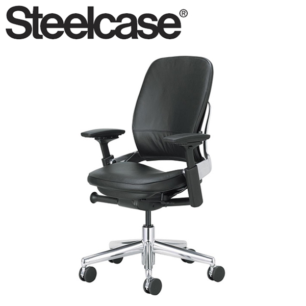 【Steelcase デスクチェア】 スチールケース リープチェア アルミポリッシュ 本革張り 本革張り デスクチェア 肘付き()【送料無料 リープチェア】, AKD通販Priceless:99b95f97 --- apps.fesystemap.dominiotemporario.com