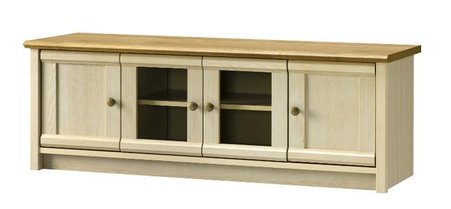テレビ台 ローボード 木製 テレビボード リビングボード フレンチカントリー デザイン ローボード 幅120 ナチュラル(代引不可)【送料無料】