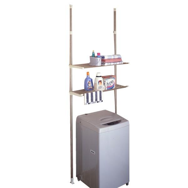 セキスイステンレス洗濯機ラック DTSR-50 / どんな洗濯機にも対応☆ 誰でも簡単にできる突っ張り式!【送料無料】