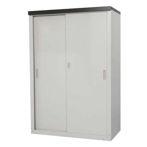 HS-132 家庭用収納庫 132cm / 軒下や小スペースを有効に活用できる小型収納庫。(代引き不可)【送料無料】