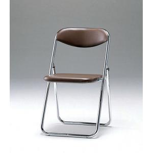 折畳み椅子・バネ座タイプ 5脚セット SCF02-CXB ブラウン(代引き不可)