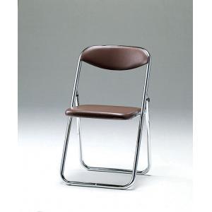 折畳み椅子・バネ座タイプ 5脚セット SCF14-CXB ブラウン(代引き不可)