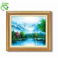 高木タケシ油絵額F10 「自然の調和」マイナスイオン付 1117240(代引き不可)