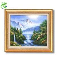 グリーン油絵額F10 「大自然の恵」マイナスイオン付 1118940(代引き不可)