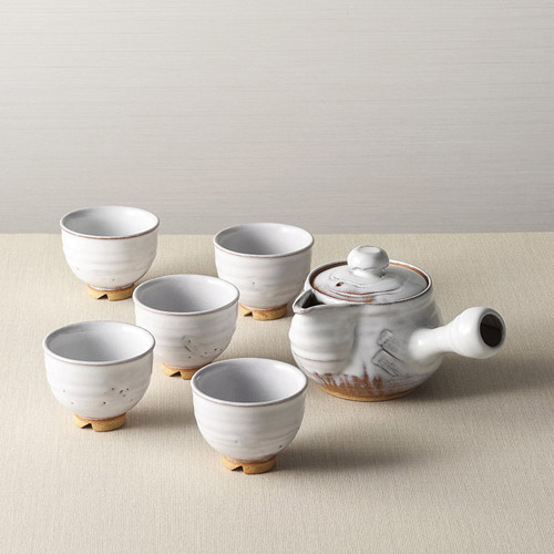 白釉茶器揃 雑貨 ホビー インテリア 雑貨 雑貨品【送料無料】