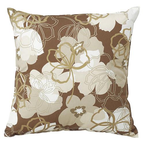 クッション1P フルール ブラウン 雑貨 ホビー クッション テーブルクロス 布関連 有名な 100%品質保証! インテリア